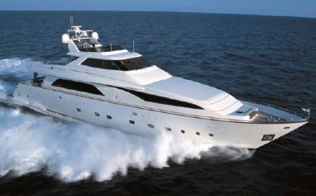 The yacht was built by Guy Couach and has a high quality military hull.