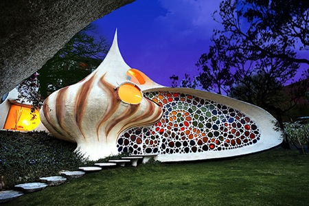 cartoon house inside. The Nautilus House is