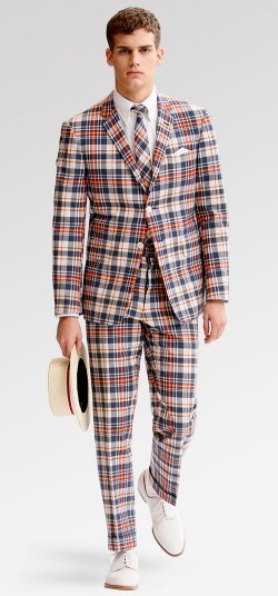 Cotton plaid madras suit.
