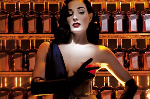 Dita and her favorite drink.