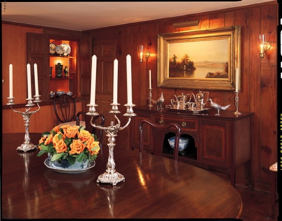The dining room at Seven Springs Farm.