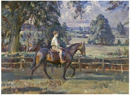 Munnings' Portrait of Daffern Seal on