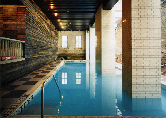 The basement pool.