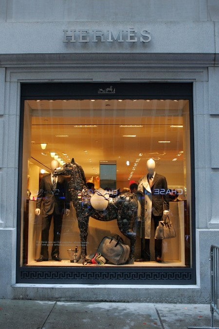 An Hermes window display in NY.
