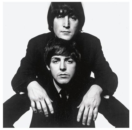 John Lennon and Paul McCartney by David Bailey.