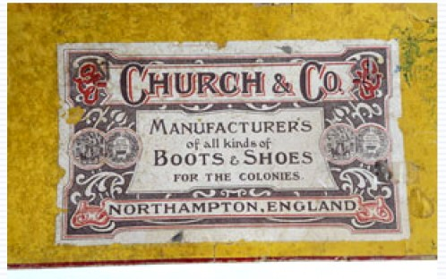 An original Church's label