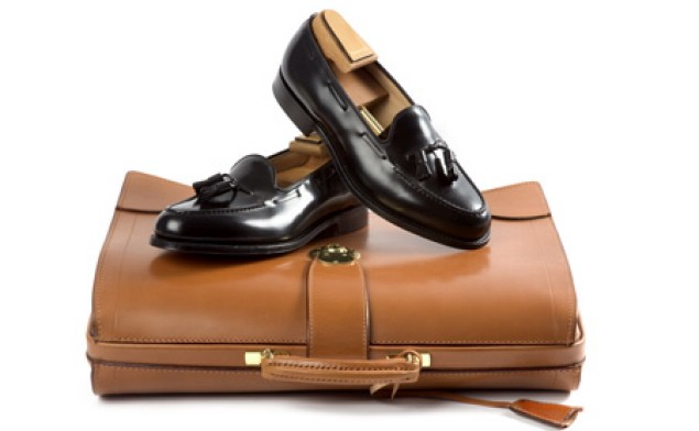 Church's loafers and briefcase
