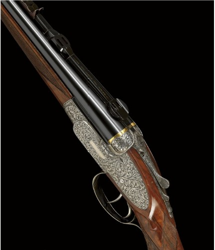 Holland & Holland double-barreled .375 magnum rifle.