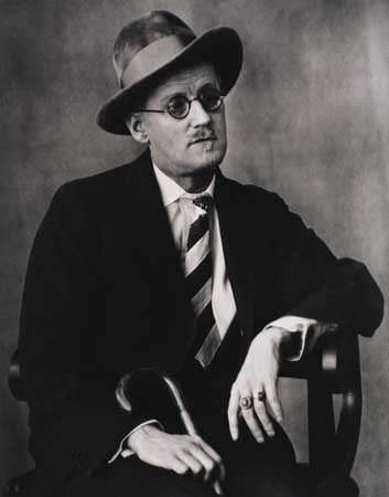 James Joyce by Berenice Abbott, 1928.