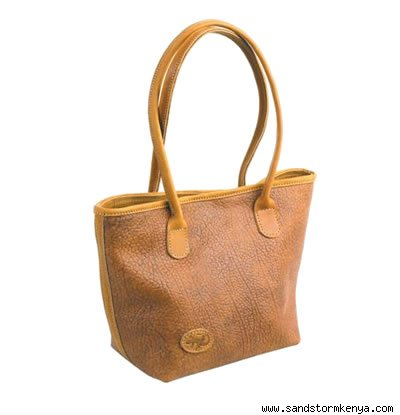 Camel and Cowhide Kidogo Bag