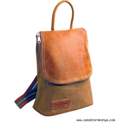 Canvas and Cowhide Kili Bag