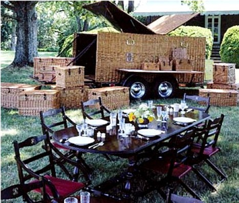 16-person Asprey picnic trailer made for billioniare John Kluge.