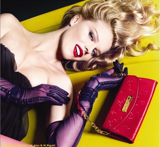 Eva Herzigova for Louis Vuitton.