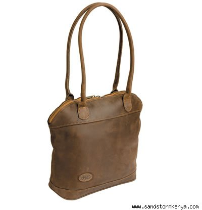 Mocha Leather Lewa Bag