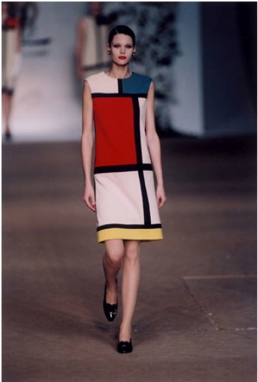Mondrian cocktail dress, 1965.