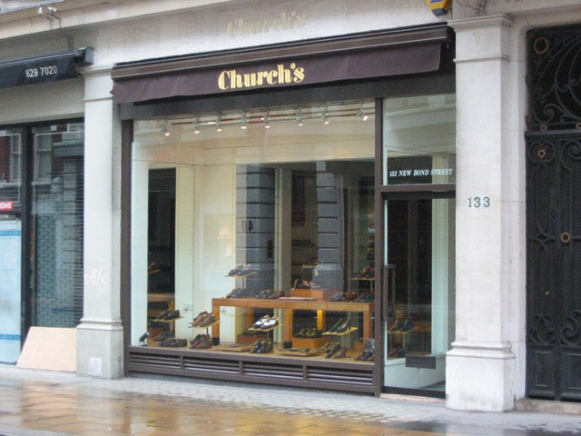 Church's New Bond St. shop, London