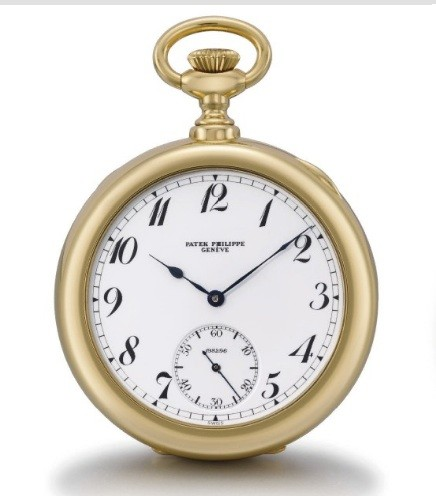 18K gold openface keyless lever tourbillon pocket watch.