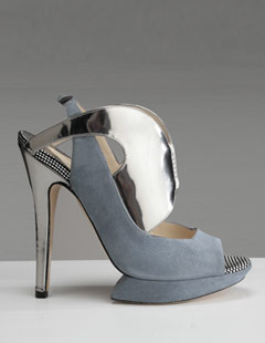 Nicholas Kirkwood Grey/Gunmetal Pumps