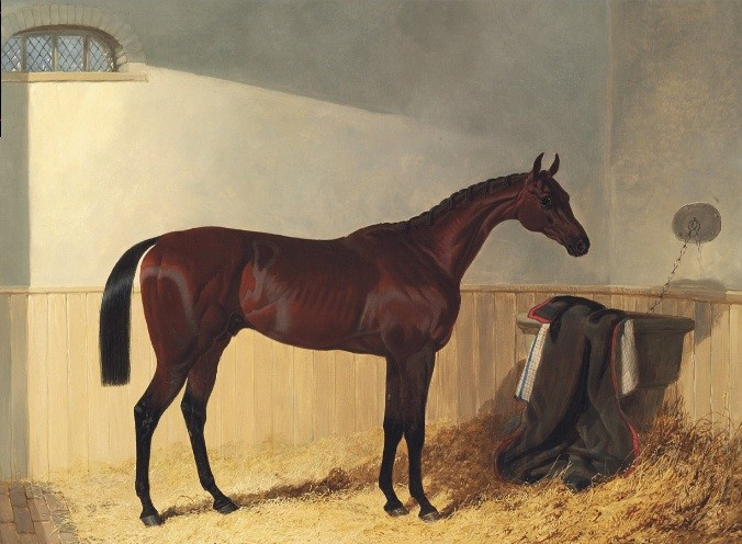 John Frederick Herring, Sen. (1795-1865) G.W. Gratwicke's bay colt The Merry Monarch.