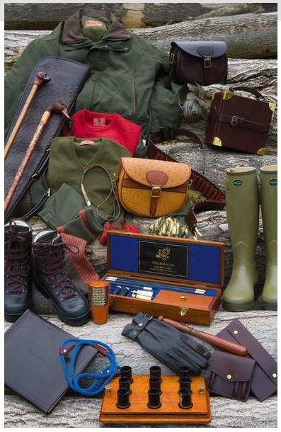 A selection of sporting attire and accessories.