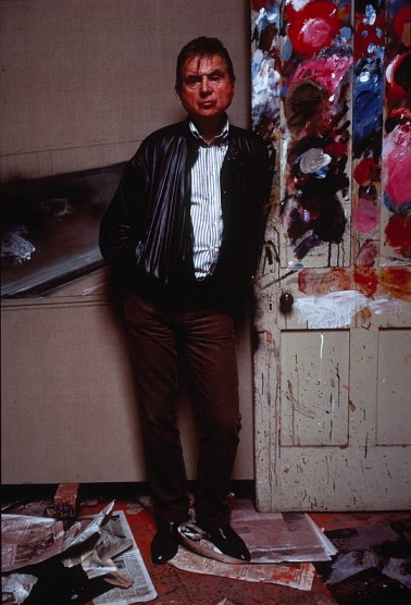 The artist in his studio, 1984.