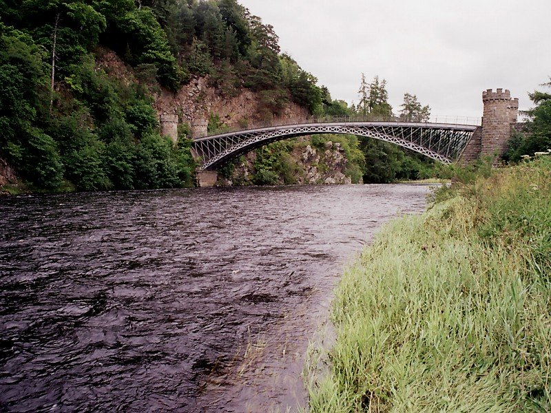 Telford Bridge on the River Spey.