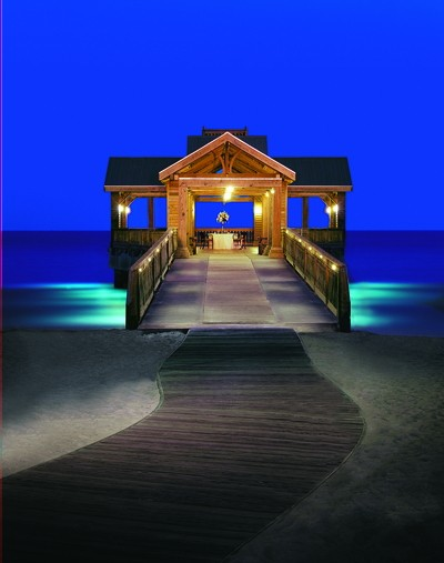 Beachfront gazebo.