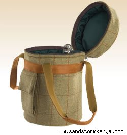 Tweed and Cowhide Champagne Cooler