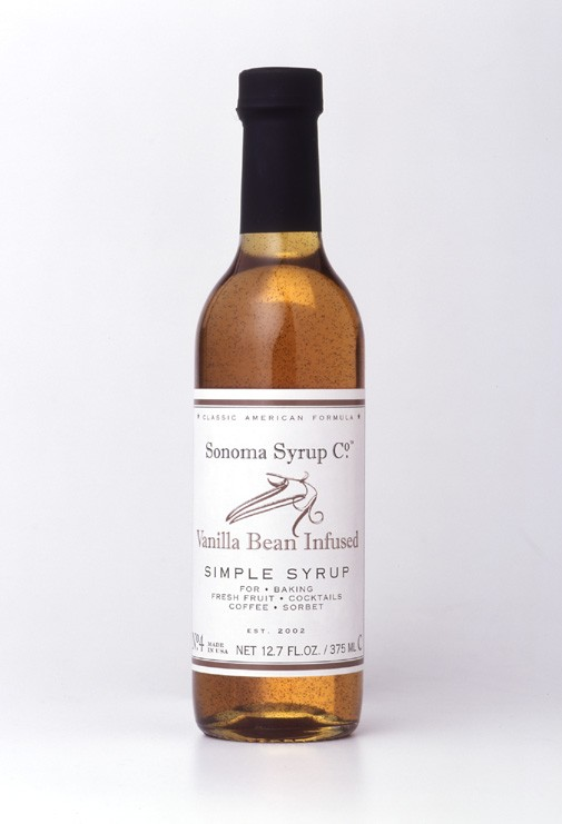Vanilla bean simple syrup.