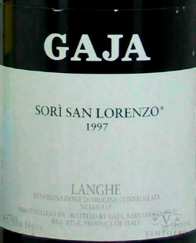 A classic Gaja label.