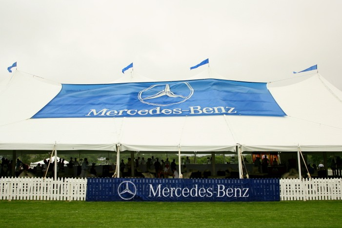 The Mercedes-Benz VIP tent.