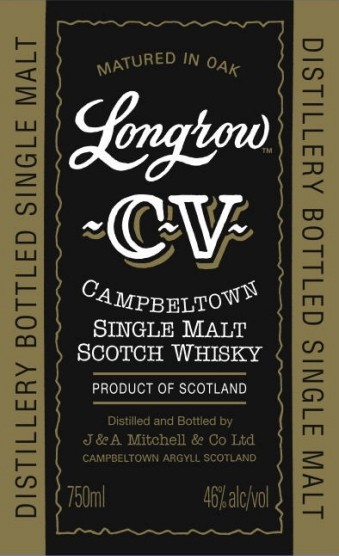 Longrow CV label.