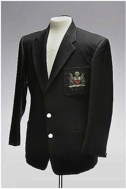 A Manchester United blazer from the '50s.
