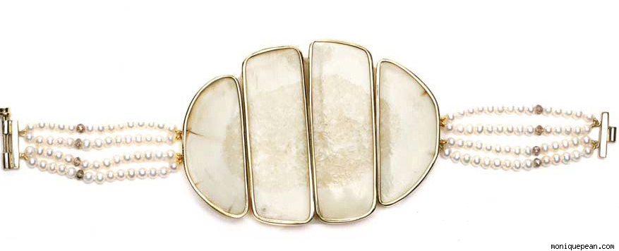 Athabascan Pear and Ivory Bracelet