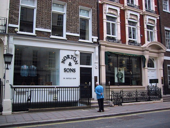 Savile Row shops