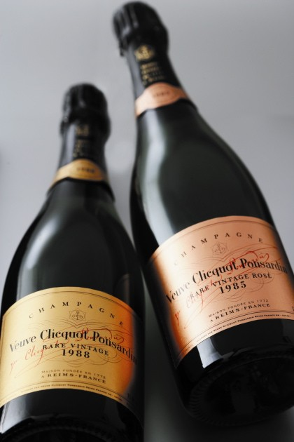 Rare Veuve vintages.