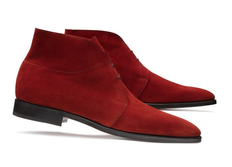 Romsey in red suede.