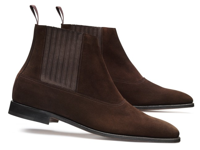 Watton in dark brown suede.