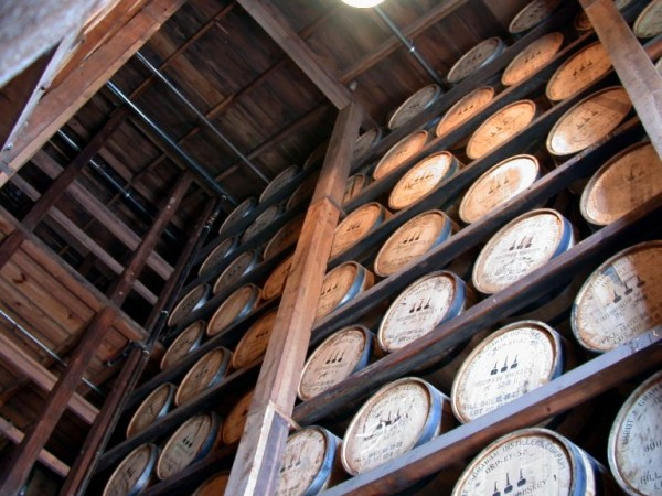Woodford bourbon barrels.