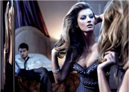 Gisele in last season's ad, #1.
