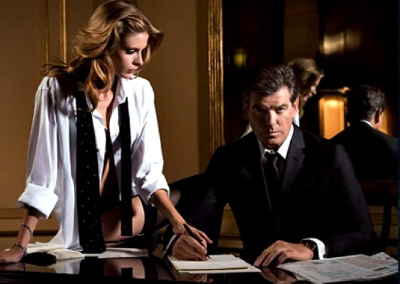 Pierce Brosnan for Aquascutum.