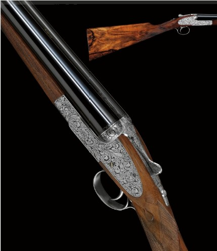 An inlaid Asprey shotgun.