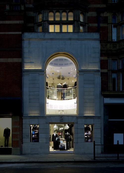 Exterior of the B&S London flagship.