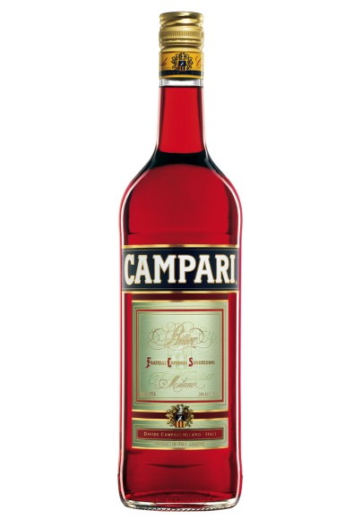 The classic Campari bottle