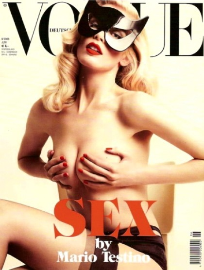 Claudia Schiffer on a recent cover of German Vogue