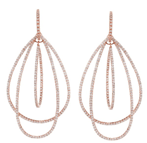 Daniel K Double Pear Hoop Earrings