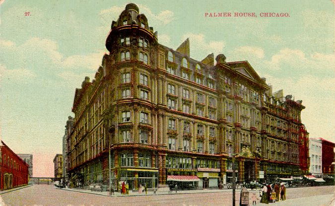 Old postcard of the original hotel