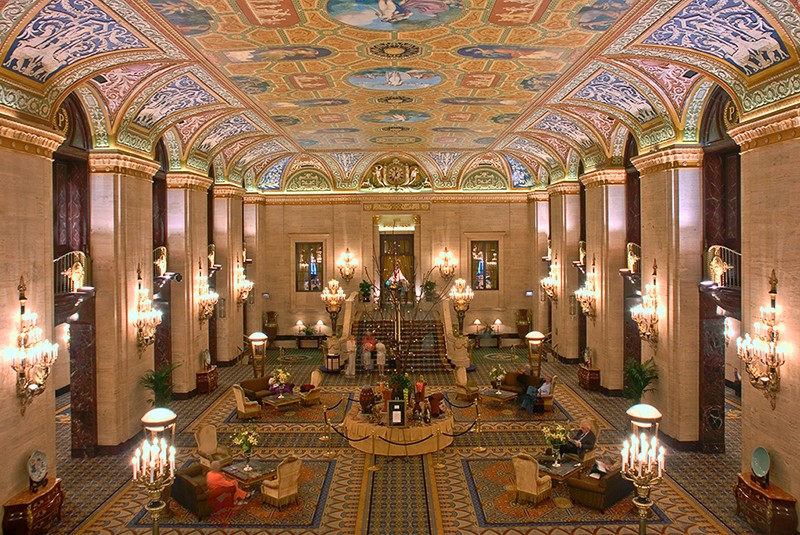 View of the ornate lobby