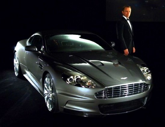 Bond and his Aston Martin.