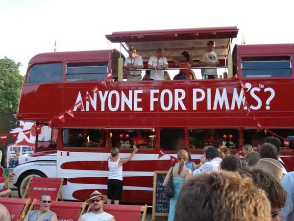 The Pimm's tour bus